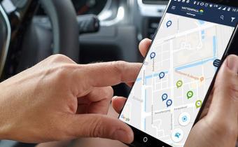 App Vattenvall Incharge waarmee je kunt waar de laadpalen staan